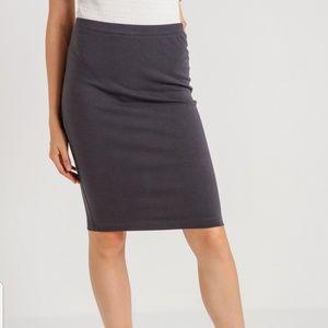 Gap Cotton Stretch Bodycon Pencil Skirt Small Gray